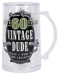Vintage Dude 60th Tankard