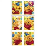 POOH'S 1ST BIRTHDAY STICKERS