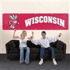 University of Wisconsin - Badgers Giant 8ft X 2ft Banner