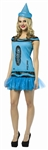 Steel Blue Crayola Crayon Adult Costume