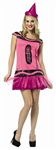 Shimmering Blush Glitter Crayola Crayon Dress Adult Costume