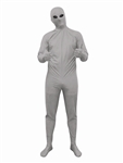 Alien Silver Bodysuit (40-42) Large Adult Costume