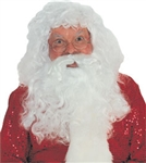Santa Beard And Wig Set - Synthetic