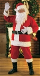 FLANNEL SANTA SUIT ADULT COSTUME - STANDARD