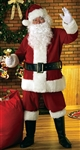 DELUXE VELOUR SANTA CLAUS SUIT ADULT COSTUME - STANDARD