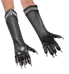 Black Panther Costume Gloves - Adult