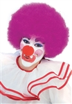 Purple Clown / Afro Wig