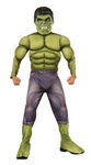 Hulk Deluxe Kid's Costume - Large