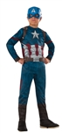Captain America Value Kid's Costume - Large