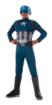 Captain America Deluxe Kid's Costume - Large
