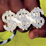 $$$ (DOLLAR) 3 FINGER PIMP RING
