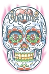 El Amor Day of the Dead Temporary Tattoo