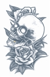 Prison Skull and Roses Tattoo