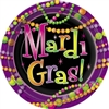 Mardi Gras Beads 9in. Plates