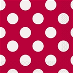 Red Polka Dots Luncheon Napkins