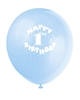 Happy 1st Birthday Blue Latex Balloons