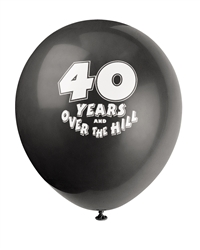 40 Years Over The Hill Balloons
