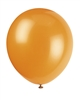 Pumpkin Orange 12 inch Latex Balloons