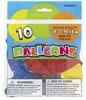 Standard Assorted 12in 10 Count Latex Balloons