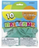 Emerald Green 12in 10 Count Latex Balloons