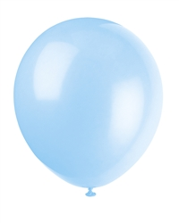 BABY BLUE 12 INCH 10 COUNT LATEX BALLOONS