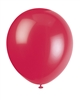 Ruby Red 12 Inch Latex Balloons