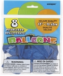 Pearlized Saphire Blue Balloons - 12 inch