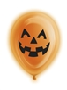 Orange Pumpkin Light Up Balloons