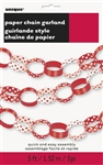 Red Polka Dots Paper Chain Garland