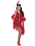 SWINGIN RED FLAPPER MD ADULT COSTUME