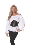 Renaissance Long Sleeve White Shirt - Medium