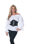 Renaissance Long Sleeve White Shirt - Small