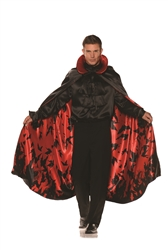Bat Cape Red Satin