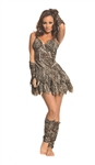 Going Clubbin' Cavegirl Adult Costume - Medium