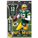 Aaron Rodgers NFL 2014 MVP Multi-Use Decals