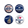 Milwaukee Brewers Buttons 4 Pack