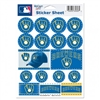 Milwaukee Brewers Ball/Glove Logo Stickers Sheet