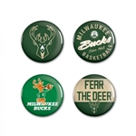 Milwaukee Bucks Buttons 4 Pack