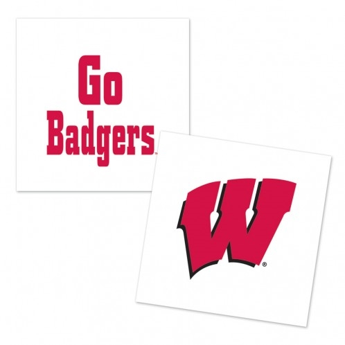 Wisconsin Badgers Tattoos 4 Pack Bartz S Party Stores