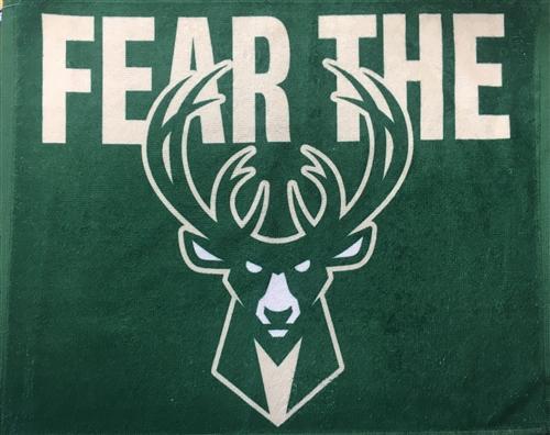 Milwaukee Bucks Fear the Deer Rally Towel Tailgate Stadium Gear FREE SHIP