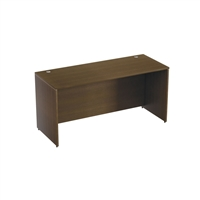 Rectangular desk shell with straight modesty panel