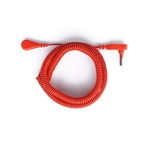 Coil Cord Long Orange - 18 foot cord
