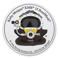 Kirby Morgan KMB 18B Bandmask Front View Hang Tag Circular Sticker