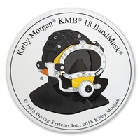 Kirby Morgan KMB 18B Bandmask Side View Hang Tag Circular Sticker