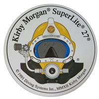 Kirby Morgan SL 27 Front View Circular Sticker