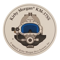 Kirby Morgan KM 37 SS Front View Circular Sticker