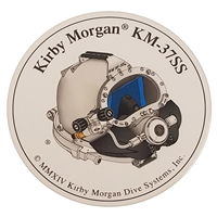 Kirby Morgan KM 37 SS Side View Circular Sticker