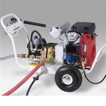 Cavidyne CaviBlaster 1228-G Cavitation Cleaning System Gasoline Powered, 2 Wheel Cart, With Feed Pump & Electric Starter