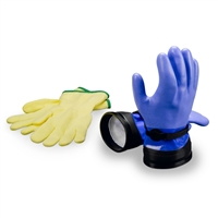 DUI Heavy Duty Blue ZipGloves with liners