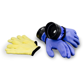 DUI ZipGloves WD - Heavy Duty Blue Wrist Dam Gloves With Liners
